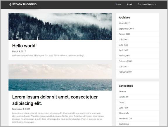 Steady Blogging