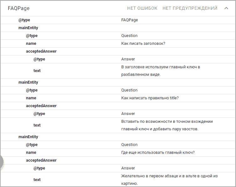 Проверка в google валидаторе