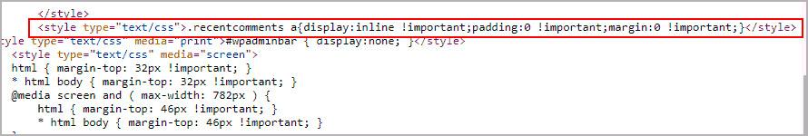 Показ recentcomments в коде.